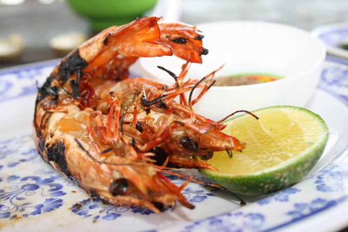 Prawn, lime, and fish sauce